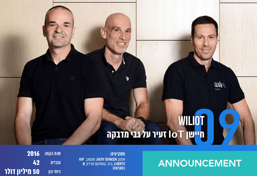 Wiliot among Globes 'Most Promising Startups of 2019'