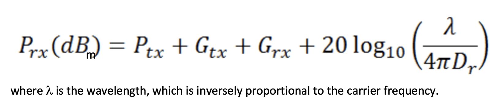 Friis formula
